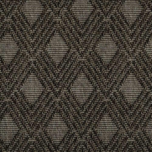 High-Performance All Weather Indoor/Outdoor Custom Rug with UV Resistant Standard Edge Finish - Maracanda Charcoal