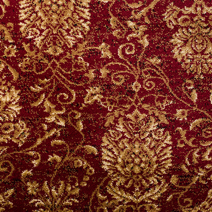 Madrid Woven Custom Rug - Red/Tan Metropolis