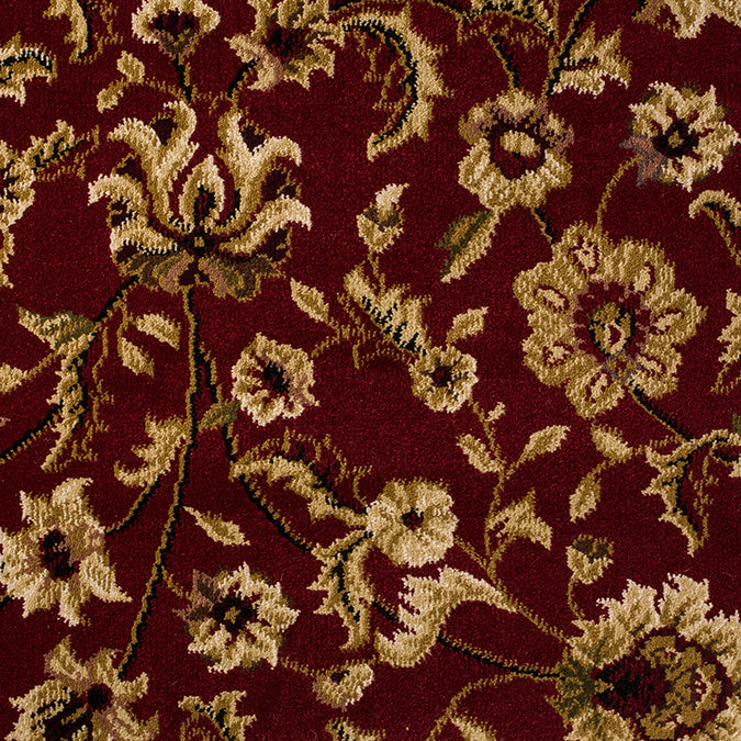 Opulence Woven Custom Rug - Red/Tan Multi Mulberry