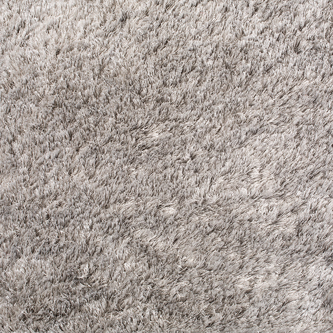 What a Sheen Woven Custom Shag Rug - Light Grey Ovation
