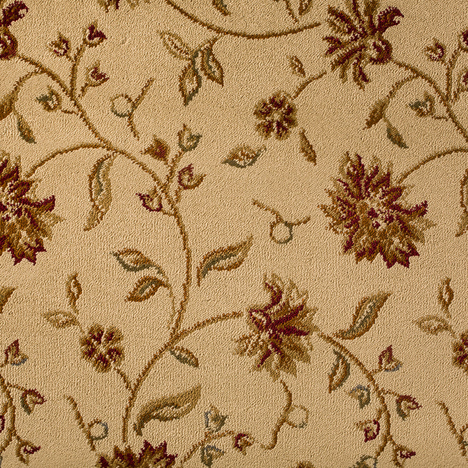 The Perfect Flower Woven Custom Rug - Creme/Tan Parchment