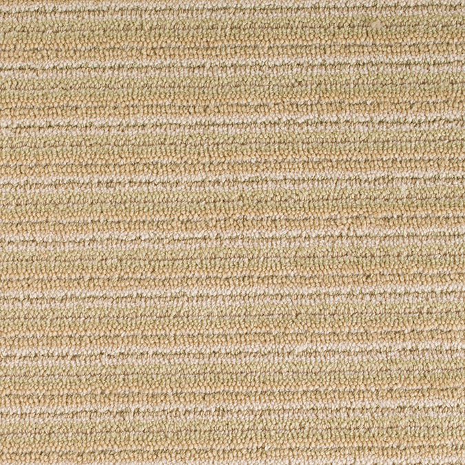 Linear Wool Woven Custom Rug - Light Green/Cream Multi Peridot