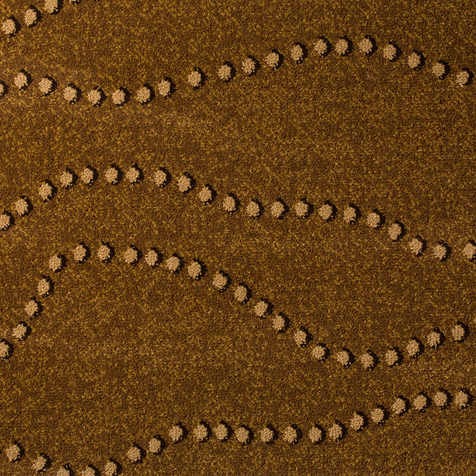 String of Pearls Woven Custom Rug- Gold/Tan Personality