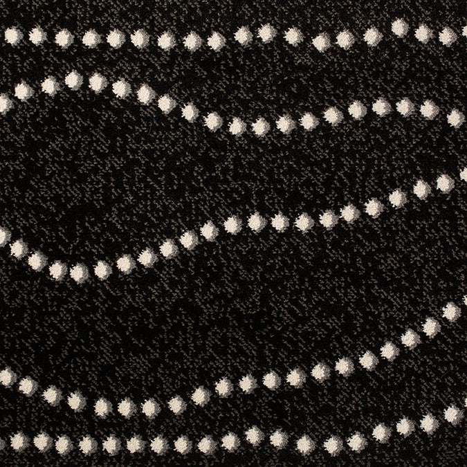 String of Pearls Woven Custom Rug - Dark Grey/White Physique
