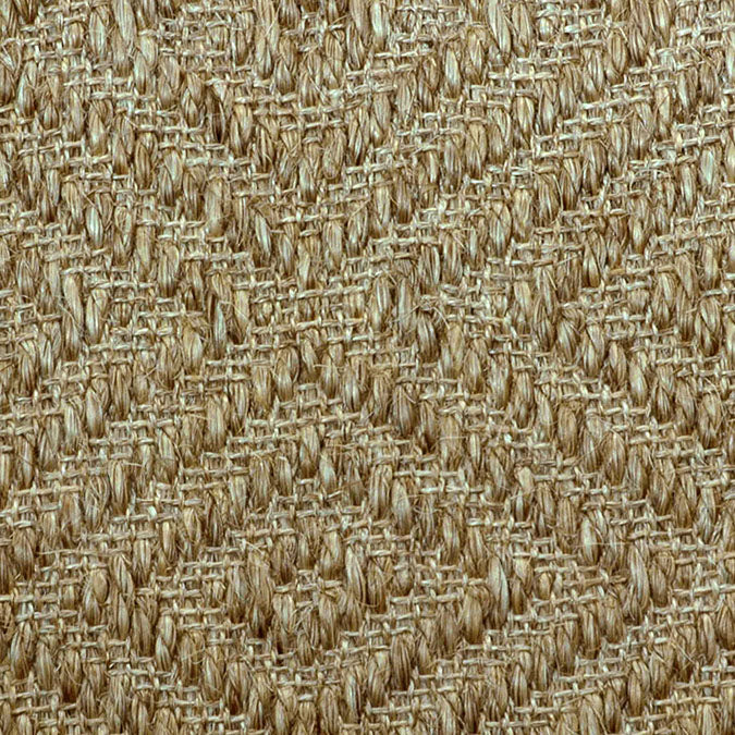 Fibreworks® Custom 100% Sisal Rug with Matching Serged Border or Other Border Options- Bakari Sandstone 471A