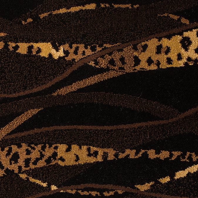 Out of Africa Woven Animal Print Custom Rug - Brown/Tan Servel