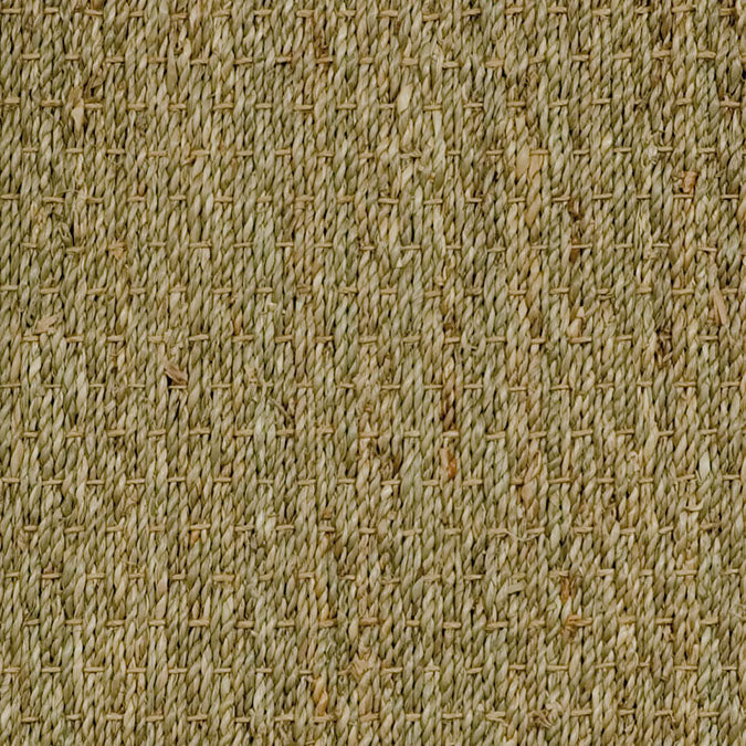 Fibreworks® Custom 100% Seagrass Rug with Matching Serged Border or Other Border Options - Botanical Blends Spring Twine 605