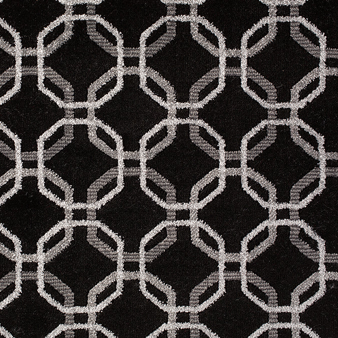Concentric Woven Custom Rug - Black/Grey Nexus