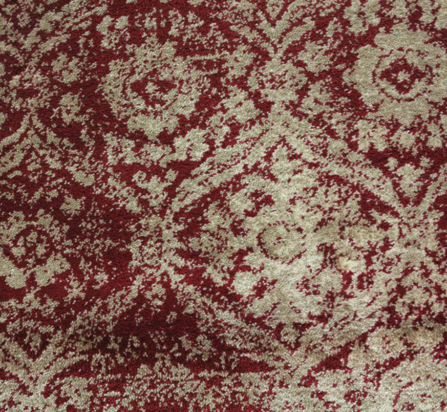 Olympia Woven Custom Rug - Red/Taupe Cherry