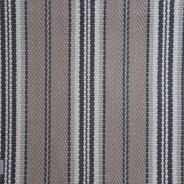 Spencer Stripe Hand Loomed Custom Rug - Khaki