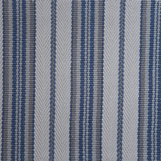 Spencer Stripe Hand Loomed Custom Rug - Ocean
