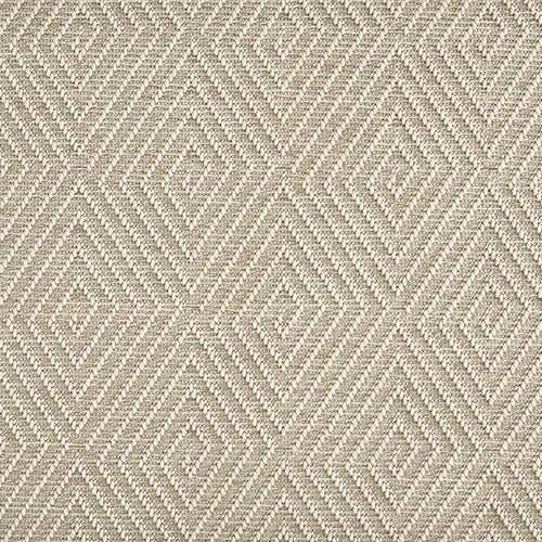 High-Performance All Weather Indoor/Outdoor Custom Rug with UV Resistant Standard Edge Finish -Tunisia Remix - Frost