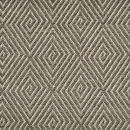 High-Performance All Weather Indoor/Outdoor Custom Rug with UV Resistant Standard Edge Finish - Tunisia Remix - Raven