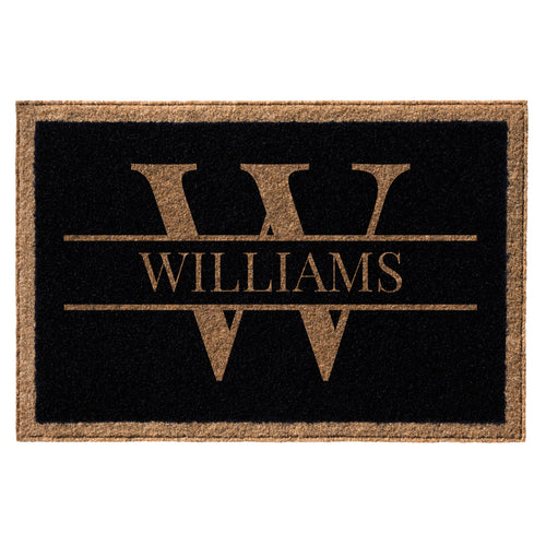 Infinity Custom Mats™ All-Weather Personalized Door Mat - STYLE: WILLIAMS COLOR:BLACK