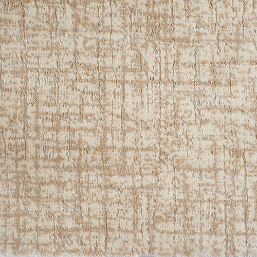 Beige and cream distressed custom  area rug
