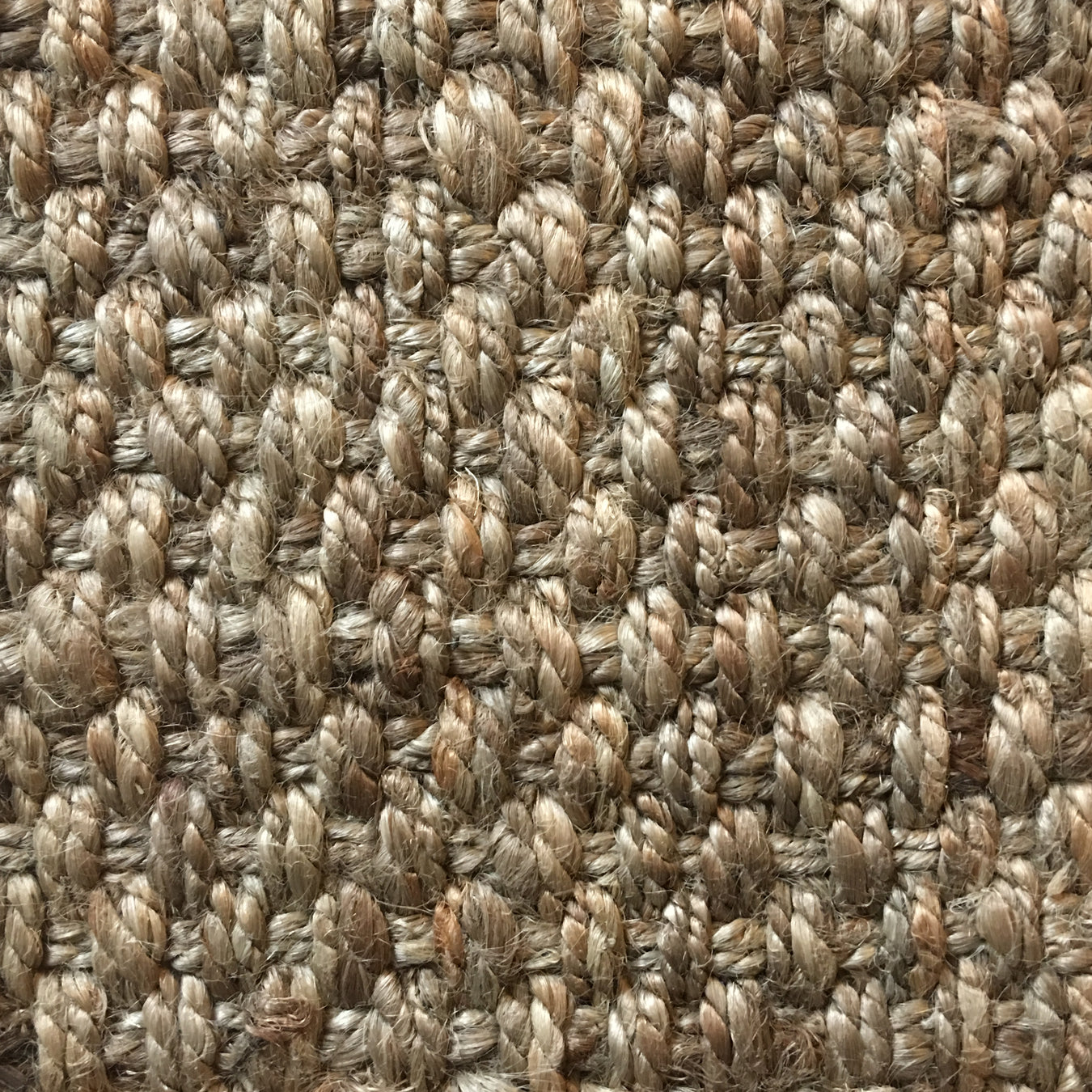 Fibreworks® Custom 100% Jute Rug with Matching Serged Border or Other Border Options- Cross Stitch 207 Natural