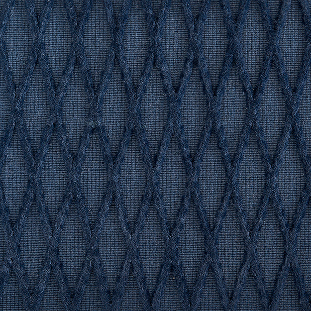 Metropolis Vine Hand-Loomed Wool Blend Custom Rug - Blue Macaw