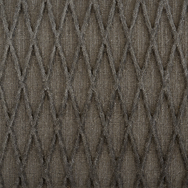 Metropolis Vine Hand-Loomed Wool Blend Custom Rug - Charcoal