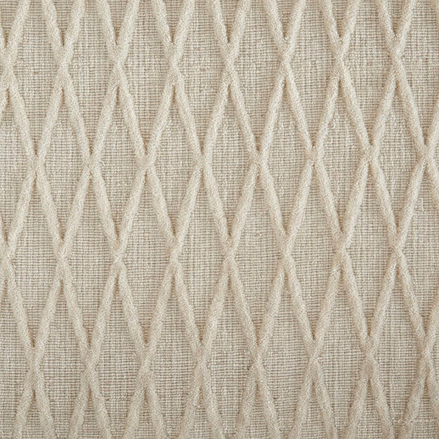 Metropolis Vine Hand-Loomed Wool Blend Custom Rug - Winter White