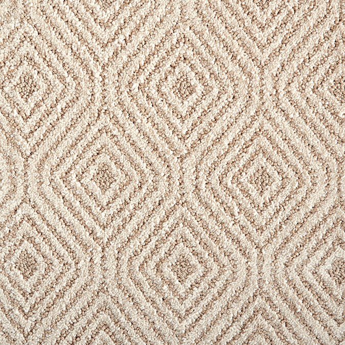 Aspire Tufted Custom Rug - Compass Oatmeal