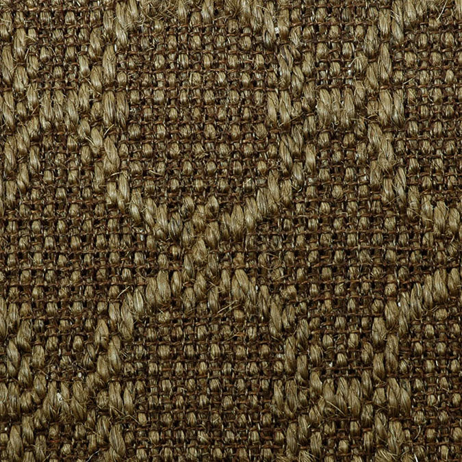 Fibreworks® Custom 100% Sisal Rug with Matching Serged Border or Other Border Options - Zodiac Aged Bronze 4615
