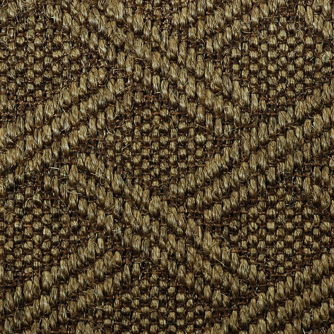 Fibreworks® Custom  100% Sisal Rug with Matching Serged Border or Other Border Options - Pathway Aged Bronze 485