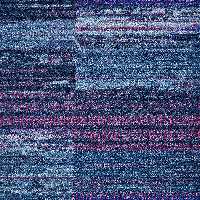 Blue and purple abstract area rug