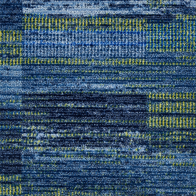 Amplitude Woven Custom Rug - Blue/Green Sunset