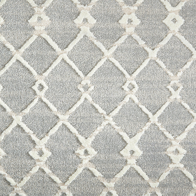Centered Woven Custom Rug - Chrome