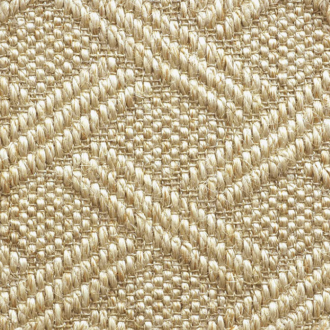 Fibreworks® Custom  100% Sisal Rug with Matching Serged Border or Other Border Options - Pathway Canvas 480