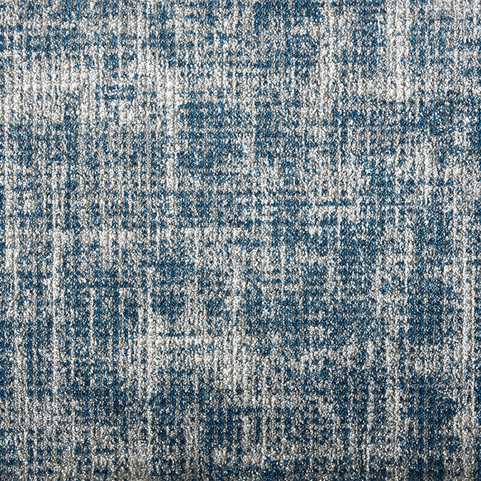 Flare Woven Custom Rug - Blue Denim