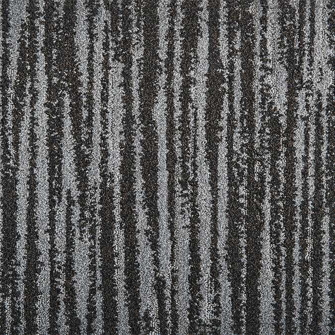 Frequency Woven Custom Rug - Black Stone