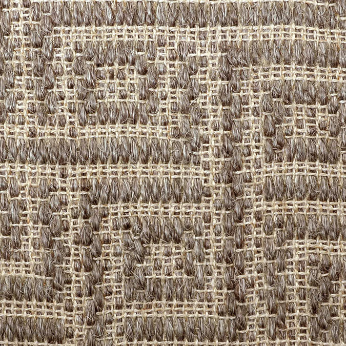Fibreworks® Custom  100% Sisal Rug with Matching Serged Border or Other Border Options - Studio Key Graphite Pearl 4634