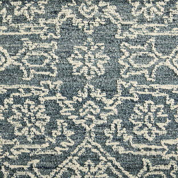 Grandeur Lace -  100% Wool Hand-Loomed Custom Rug - Porcelain