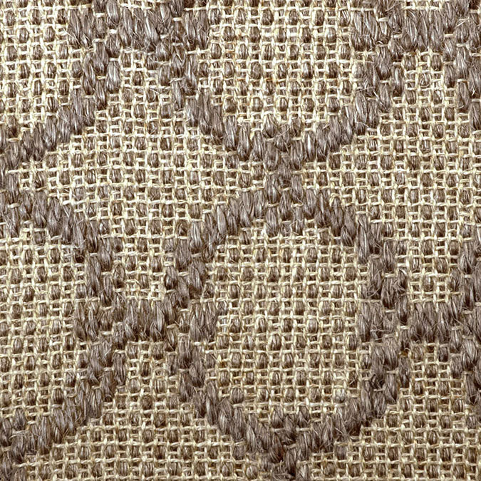 Fibreworks® Custom 100% Sisal Rug with Matching Serged Border or Other Border Options - Zodiac Graphite Pearl 4614