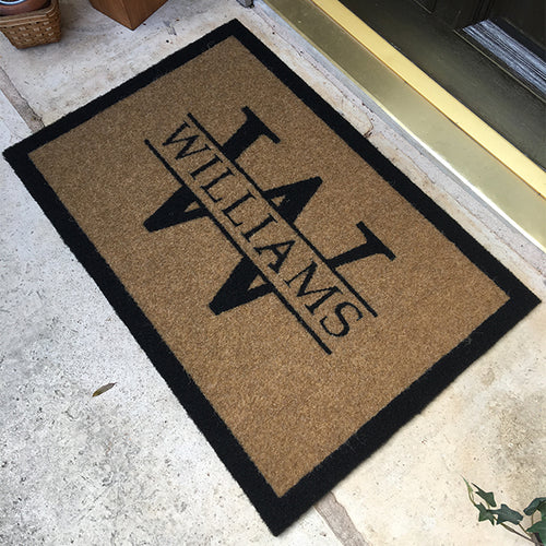 Infinity Custom Mats™ All-Weather Personalized Door Mat - STYLE: WILLIAMS COLOR:TAN