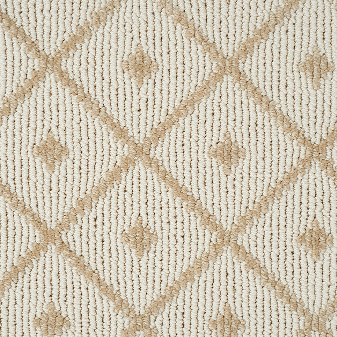 Legend Maze Tufted Custom Rug - Sandstone