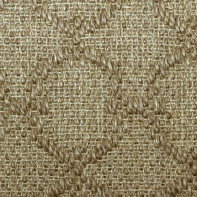 Fibreworks® Custom 100% Sisal Rug with Matching Serged Border or Other Border Options - Zodiac Oat Straw 4619
