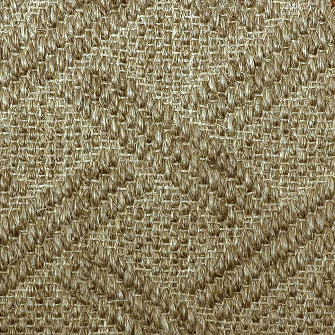 Fibreworks® Custom  100% Sisal Rug with Matching Serged Border or Other Border Options - Pathway Oat Straw 489