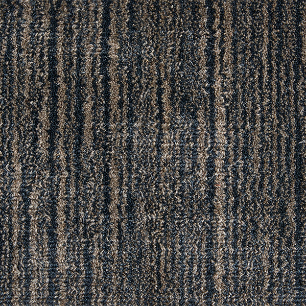 Piazza Lineage 2 Hand-Loomed 100% Wool Custom Rug - Deep Sea
