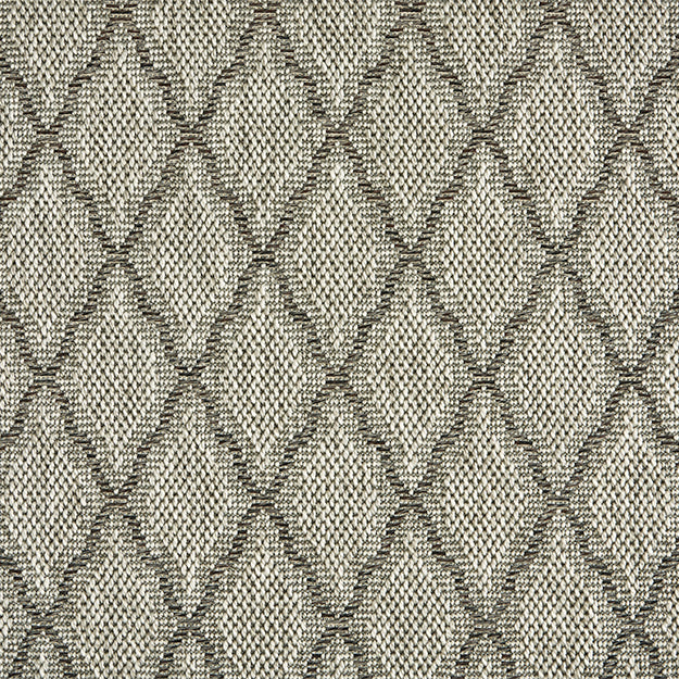 High-Performance All Weather Indoor/Outdoor Custom Rug with UV Resistant Standard Edge Finish- Seychelles Remix Heather Grey