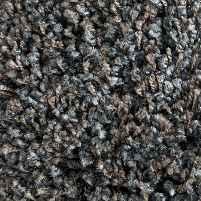 Shaggy Luxe Woven Custom Shag Rug- Grey/Brown Slate