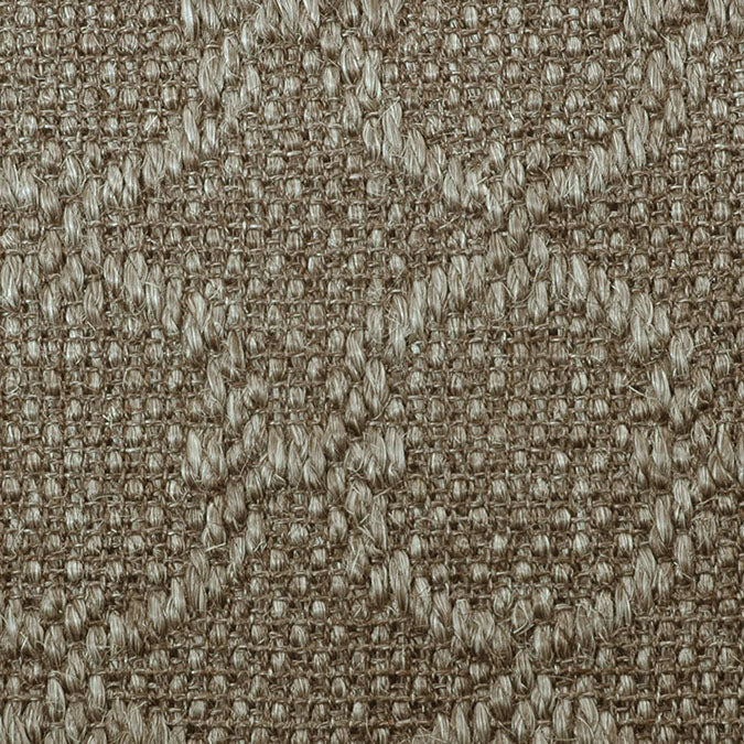 Fibreworks® Custom 100% Sisal Rug with Matching Serged Border or Other Border Options - Zodiac Silvered Grey 4613