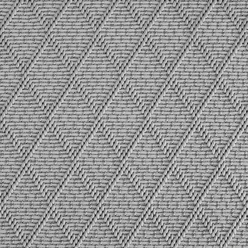 High-Performance All Weather Indoor/Outdoor Custom Rug with UV Resistant Standard Edge Finish - St Barts Grey Pearls 2