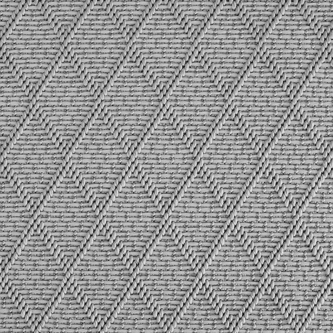 High-Performance All Weather Indoor/Outdoor Custom Rug with UV Resistant Standard Edge Finish - St Barts Grey Pearls