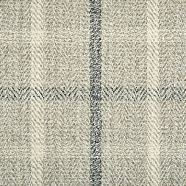 Tattersall Hand-Loomed 100% Wool Custom Rug - Shadow