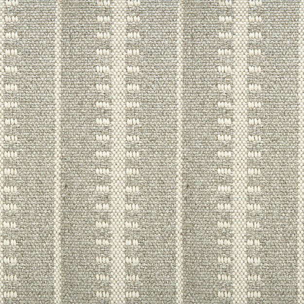 Ticking Stripe Hand-Loomed 100% Wool Custom Rug - Shadow