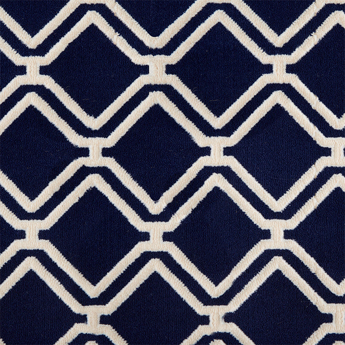 York Woven Custom Rug - Dark Blue Navy