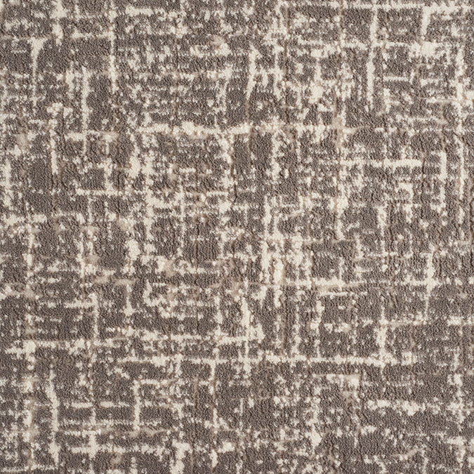 Taupe dark grey abstract custom area rug
