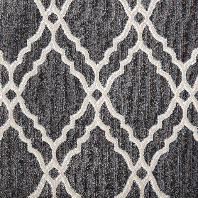 Clifton Woven Custom Rug - Grey/White Steel